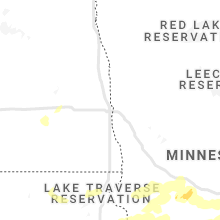 Regional Hail Map for Fargo, ND - Monday, August 23, 2021