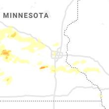 Regional Hail Map for Minneapolis, MN - Monday, August 23, 2021