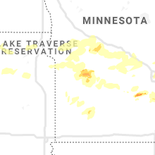 Regional Hail Map for Montevideo, MN - Monday, August 23, 2021