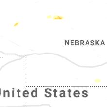 Regional Hail Map for North Platte, NE - Monday, August 23, 2021