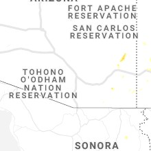 Regional Hail Map for Tucson, AZ - Monday, August 23, 2021
