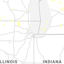 Regional Hail Map for Chicago, IL - Tuesday, August 24, 2021