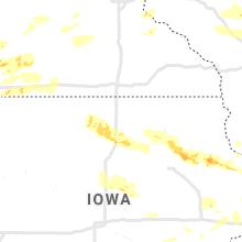 Regional Hail Map for Mason City, IA - Tuesday, August 24, 2021