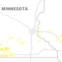 Regional Hail Map for Minneapolis, MN - Tuesday, August 24, 2021