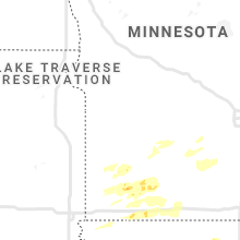 Regional Hail Map for Montevideo, MN - Tuesday, August 24, 2021