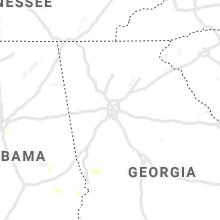 Regional Hail Map for Atlanta, GA - Wednesday, August 25, 2021