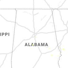 Regional Hail Map for Birmingham, AL - Wednesday, August 25, 2021