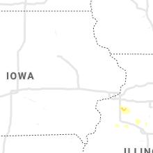 Regional Hail Map for Cedar Rapids, IA - Wednesday, August 25, 2021
