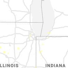 Regional Hail Map for Chicago, IL - Wednesday, August 25, 2021