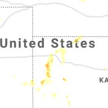 Regional Hail Map for Colby, KS - Wednesday, August 25, 2021