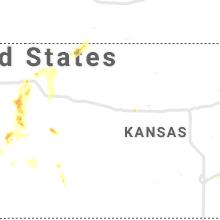 Regional Hail Map for Hays, KS - Wednesday, August 25, 2021