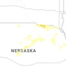Regional Hail Map for Oneill, NE - Wednesday, August 25, 2021