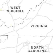 Regional Hail Map for Roanoke, VA - Wednesday, August 25, 2021
