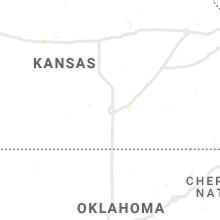 Regional Hail Map for Wichita, KS - Wednesday, August 25, 2021