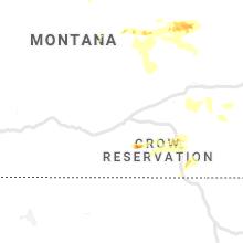 Regional Hail Map for Billings, MT - Thursday, August 26, 2021