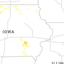 Regional Hail Map for Cedar Rapids, IA - Thursday, August 26, 2021