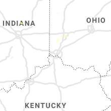 Regional Hail Map for Cincinnati, OH - Thursday, August 26, 2021