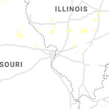 Regional Hail Map for Saint Louis, MO - Thursday, August 26, 2021