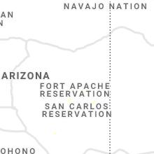 Regional Hail Map for Show Low, AZ - Thursday, August 26, 2021