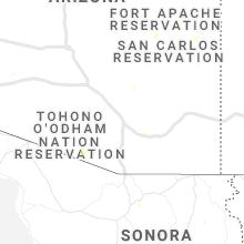 Regional Hail Map for Tucson, AZ - Thursday, August 26, 2021