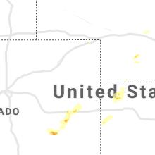 Regional Hail Map for Yuma, CO - Thursday, August 26, 2021
