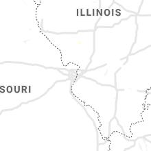 Regional Hail Map for Saint Louis, MO - Friday, August 27, 2021