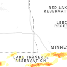 Regional Hail Map for Fargo, ND - Saturday, August 28, 2021