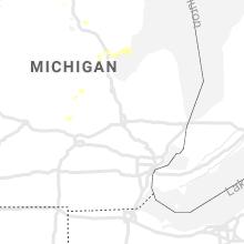 Regional Hail Map for Flint, MI - Saturday, August 28, 2021