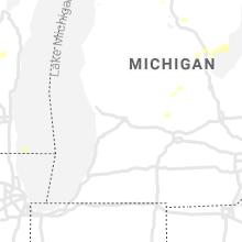 Regional Hail Map for Grand Rapids, MI - Saturday, August 28, 2021