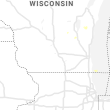 Regional Hail Map for Madison, WI - Saturday, August 28, 2021