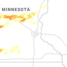 Regional Hail Map for Minneapolis, MN - Saturday, August 28, 2021