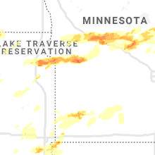 Regional Hail Map for Montevideo, MN - Saturday, August 28, 2021