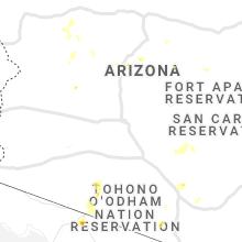 Regional Hail Map for Phoenix, AZ - Saturday, August 28, 2021
