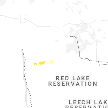 Regional Hail Map for Roseau, MN - Saturday, August 28, 2021