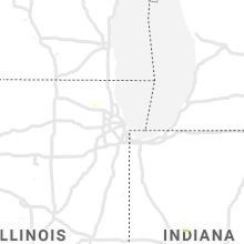 Regional Hail Map for Chicago, IL - Sunday, August 29, 2021