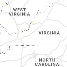 Regional Hail Map for Roanoke, VA - Sunday, August 29, 2021