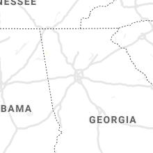 Regional Hail Map for Atlanta, GA - Monday, August 30, 2021