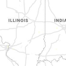 Regional Hail Map for Mattoon, IL - Monday, August 30, 2021