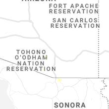 Regional Hail Map for Tucson, AZ - Monday, August 30, 2021