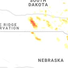 Regional Hail Map for Valentine, NE - Monday, August 30, 2021