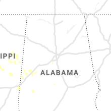 Regional Hail Map for Birmingham, AL - Wednesday, September 1, 2021