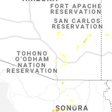 Regional Hail Map for Tucson, AZ - Sunday, September 5, 2021