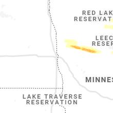 Regional Hail Map for Fargo, ND - Monday, September 6, 2021