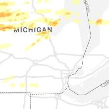Regional Hail Map for Flint, MI - Tuesday, September 7, 2021