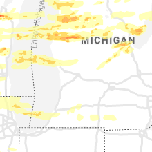 Regional Hail Map for Grand Rapids, MI - Tuesday, September 7, 2021