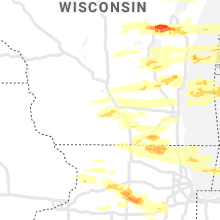 Regional Hail Map for Madison, WI - Tuesday, September 7, 2021