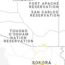 Regional Hail Map for Tucson, AZ - Tuesday, September 7, 2021