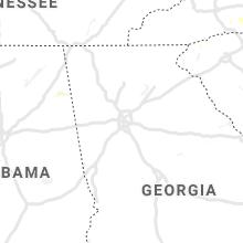 Regional Hail Map for Atlanta, GA - Wednesday, September 8, 2021