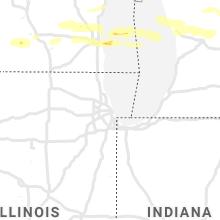 Regional Hail Map for Chicago, IL - Sunday, September 12, 2021