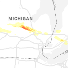 Regional Hail Map for Flint, MI - Sunday, September 12, 2021